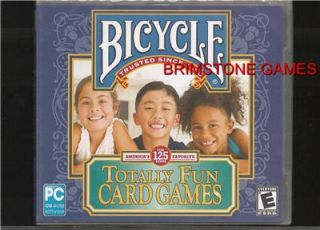 Bicycle Totally Fun Card Games PC Games Brand New SEALED XP Vista 7