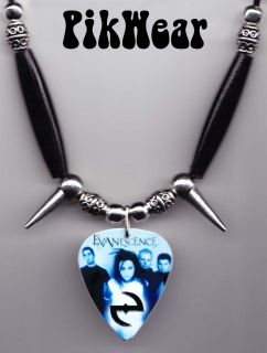 Evanescence Band Photo Guitar Pick Necklace Amy Lee