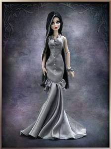 EVANGELINE GHASTLY GREY AS THE MOORS ENSEMBLE FITS RESIN & VINYL LE300