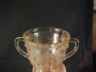 Macbeth Evans Pink Depression Glass Dogwood Sugar Bowl