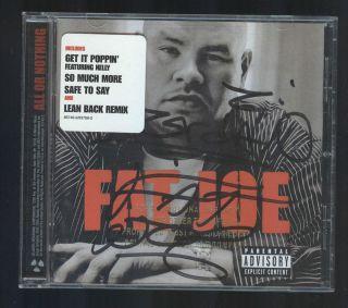 Fat Joe CD All or Nothing SIGNED AUTOGRAPHED INSERT Eminem Jennifer
