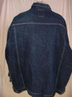 Sean John Big+Tall Mens Jeans Jacket Denim blue   size 5XB HUGE   100