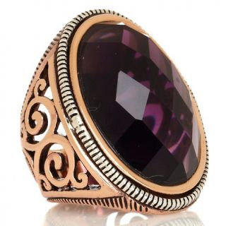 182 574 studio barse copper and sterling silver oval ring rating 7 $