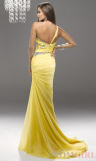 2013 Sexy One Shoulder Evening Dresses Beaded Party Formal Prom