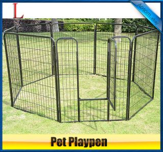 39.4Heavy Duty 8 Panels Pet Playpen Dog Play Exercise Pen Cat Fence