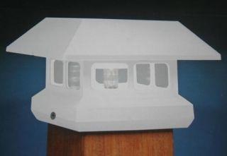 10 Pack Solar Powered White Fence Post Deck Cap Mount LED Light