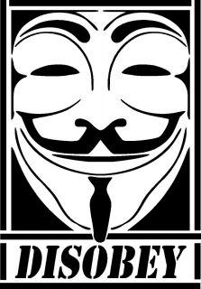 Guy Fawkes Disobey Street Graffiti Vinyl Decal Sticker V for Vendetta