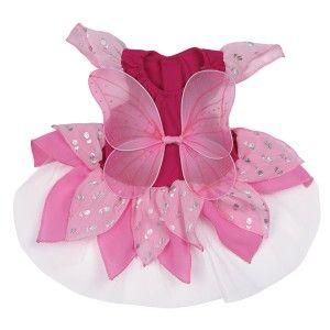 Dog Fairy Tinker Bell Halloween Costume Green Pink XS L