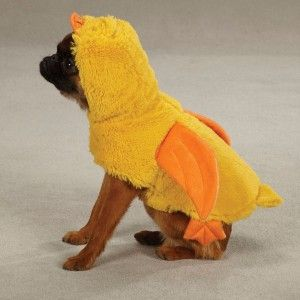 DUCK Pup Dog Halloween Clothes Ducky Pet Puppy Costume XS, S, M, L, XL