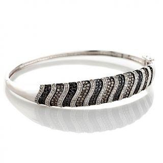 192 690 14k white gold 2ct brown black and white diamond bangle