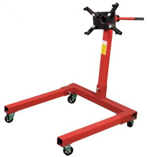 1250 lb Mobile 4 Wheel Steel Engine Stand Dolly for Car Auto Motor