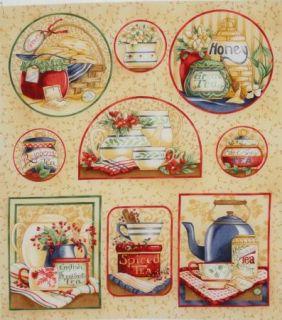 Earl GreyEnglish Breakfast Tea Pot Cup Quilt Block 8