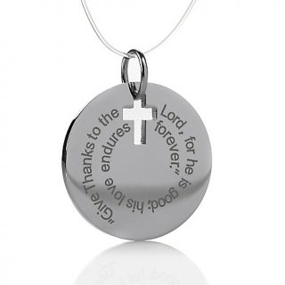 223 821 michael anthony jewelry inspirational stainless steel disc
