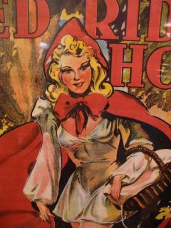 ORIGINAL ENGLISH SEXY RED RIDING HOOD LARGE POSTER 20 INCHES BY 30