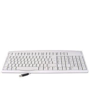Spanish EZ 9900 USB 107 Key Slim Keyboard Espanol White Power Sleep