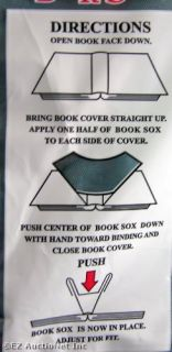 Steel Blue Stretch Fabric Book Sox Cover Standard Solid Gray NIP