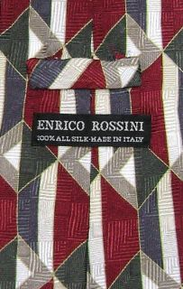 Enrico Rossini Silk Necktie Made in Italy Design Mens Neck Tie 3329 4