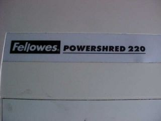 Fellowes Powershred 220 Paper Shredder Commercial Heavy Duty