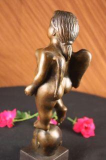 Fernando Botero Tribute Bronze Sculpture Standing Angel