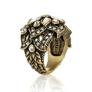 Heidi Daus Sparkling Luminescence Crystal Accented Flower Ring