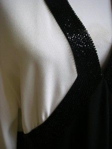 DAYMOR COUTURE BY C. MERCEDES FERREIRA GORGEOUS BLACK/WHITE BEADED