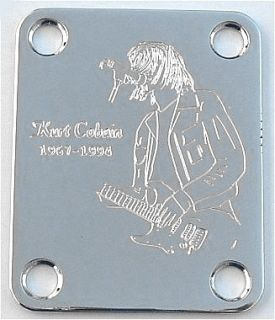 Guitar Parts Neck Plate Custom Engraved Fit Fender Kurt Cobain Nirvana