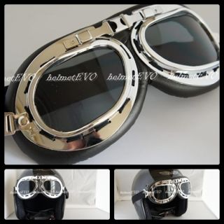 Motorcycle Helmets Goggle Open Face Glasses Harley