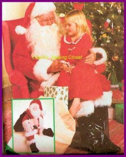 Extra Large Sewing Pattern Doll Christmas Gift Bag Costume 8992