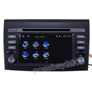 07 11 Fiat Bravo Brava Car GPS Navigation Bluetooth iPod Radio MP3 TV