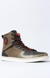 Creative Recreation The Solano Sneaker in Military Black Papaya