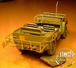 Minor 1 24 US WWII 1 4 Ton 4x4 Truck Field PE Accessories Workable