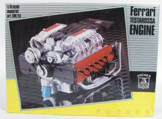 Pocher Ferrari Testarossa Engine 1 8 Scale Model Kit KM 51