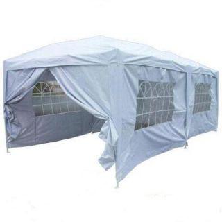 Peaktop 20x10 EZ Pop Up Party Tent Canopy Gazebo 6 Walls Silver Free