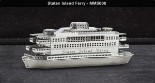 Metal Works Staten Island Ferry 3D Laser Cut Model Fascinations 010084