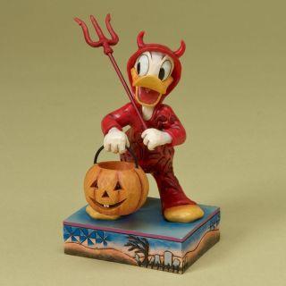 Jim Shore Disney Traditions Devil Donald Duck Halloween Figurine