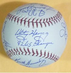 1982 St Louis Cardinals Autographed Team Signed OML Baseball w 20 Auto
