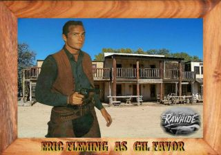 Magnet Television Western Rawhide Eric Fleming Photo Magnet