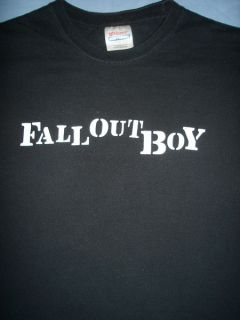Fall Out Boy Black Alternative Punk Rock Pop Tour Concert T Shirt