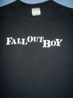 Fall Out Boy Black Alternative Punk Rock Pop Tour Concert T Shirt