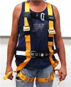 15 XXL Full Body Safety Harness Fall Protection 400 lb Capacity