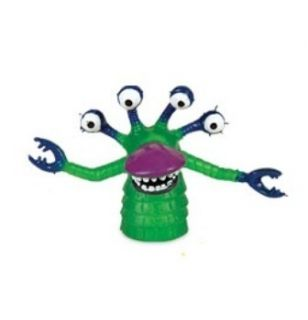 MONSTER WITH BLUE EYES AND CLAWS AND PURPLE BILL FINGER PUPPET NEW