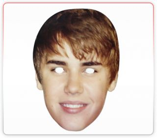 Justin Beiber Celebrity Funny Face Mask Ideal for Fancy Dress Hen Stag