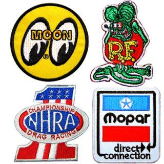 Patch Hot Rod NHRA USA RAT FINK Drag Car Nos Turbo Jacket Lot Racing