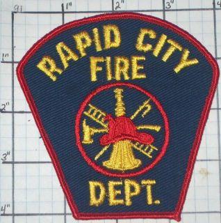 South Carolina City of Rapid City Fire Dept Patch