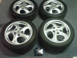 2000 Porsche Boxster Factory Wheels Tires