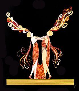 Erte Wedding Dance Love and Passion Suite Le Art Deco CXLIII CLXXV