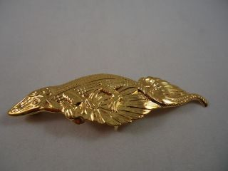 Mignon Faget Gold Plated Sterling Silver Alligator Style Belt Buckle