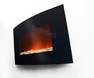 Wall Mounted Electric Fireplace Firebox Control Remote Heater BAF