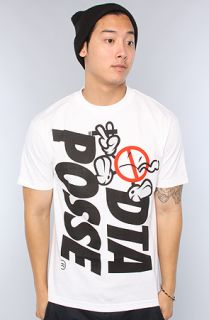 DTA   Rogue Status The New World Panic Tee in White and Black