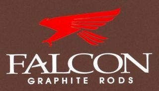 Falcon White and Red Die Cut Fishing Decal Rods Reels Lures